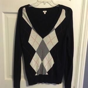 J. Crew women's argyle wool sweater